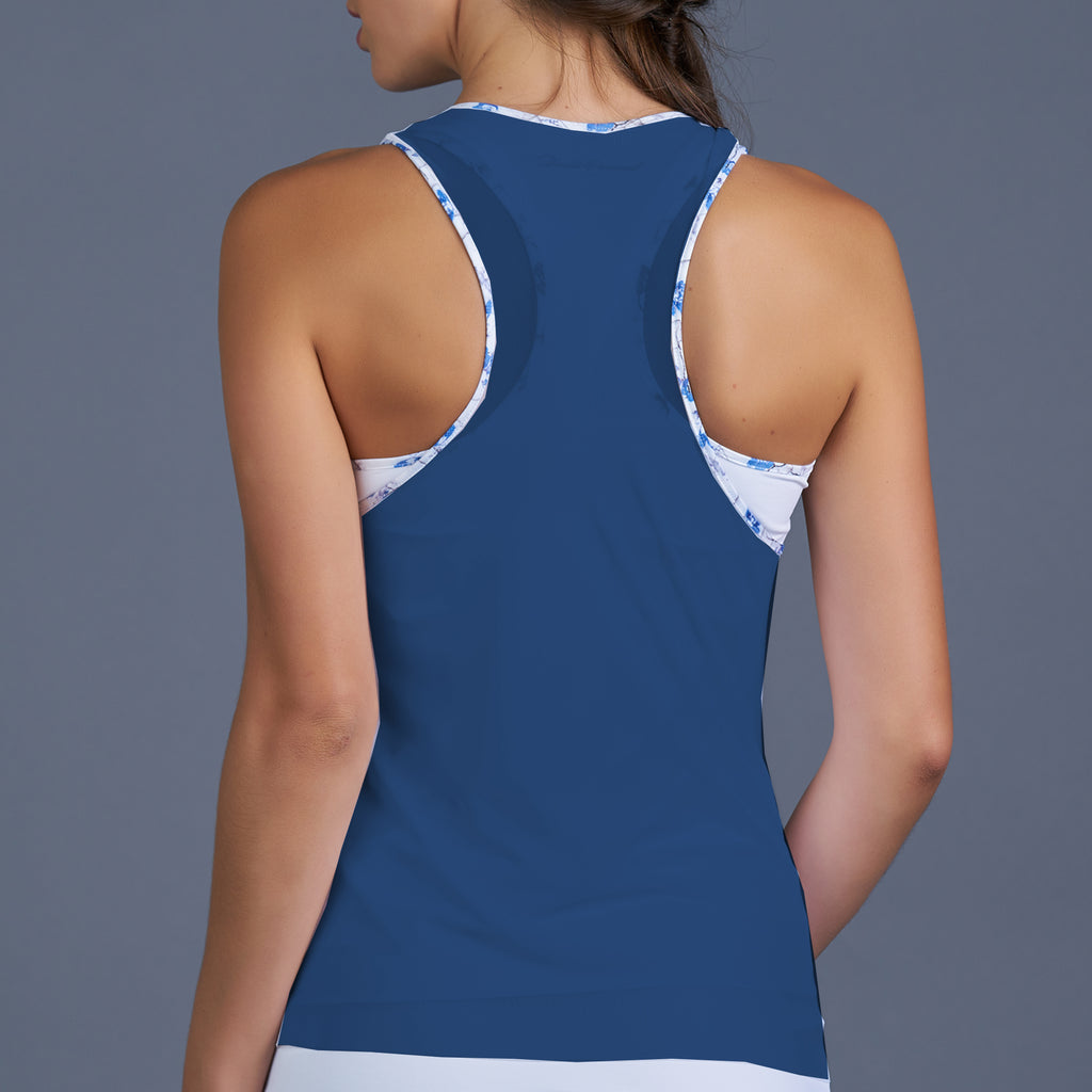 Blues Mesh Layered Racerback Top (navy)