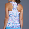 Sisily Mesh Layered Racerback Top (print)