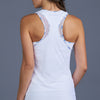 Blues Mesh Layered Racerback Top (white)