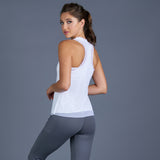 Rust Mesh Layered Racerback Top (white)