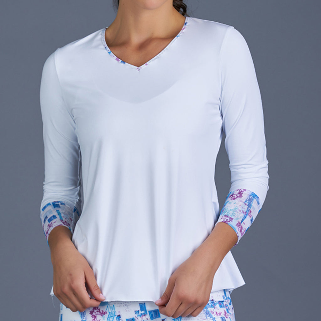 Sisily Long-Sleeve Top (white)