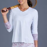 Rust Long-Sleeve Top (white)