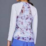 Spring Marble Sheer-body Top