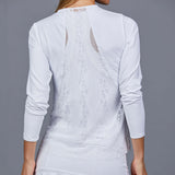 Luna White Long-Sleeve Top