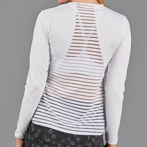 Jade Mesh Sport Top (white)