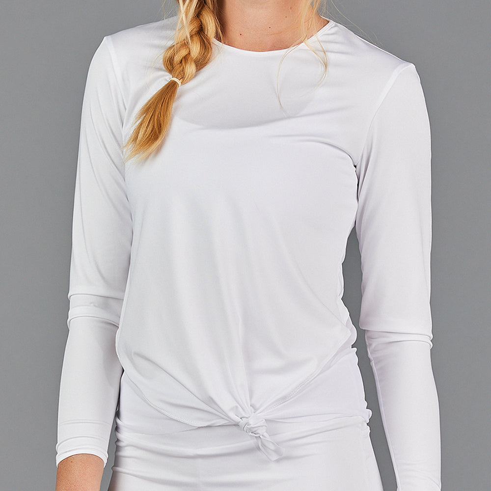 Juliette Knotted Long-Sleeve Top