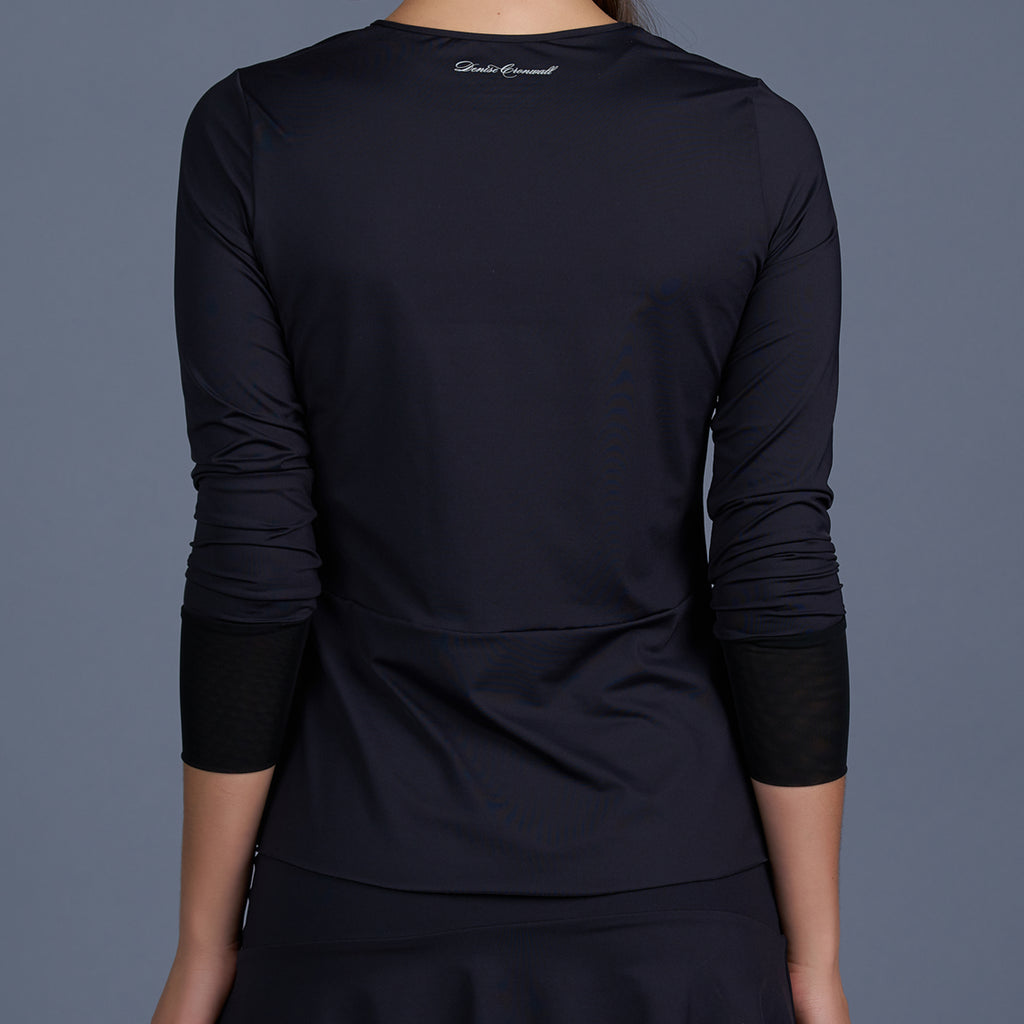 Blues Long-Sleeve Top (black)
