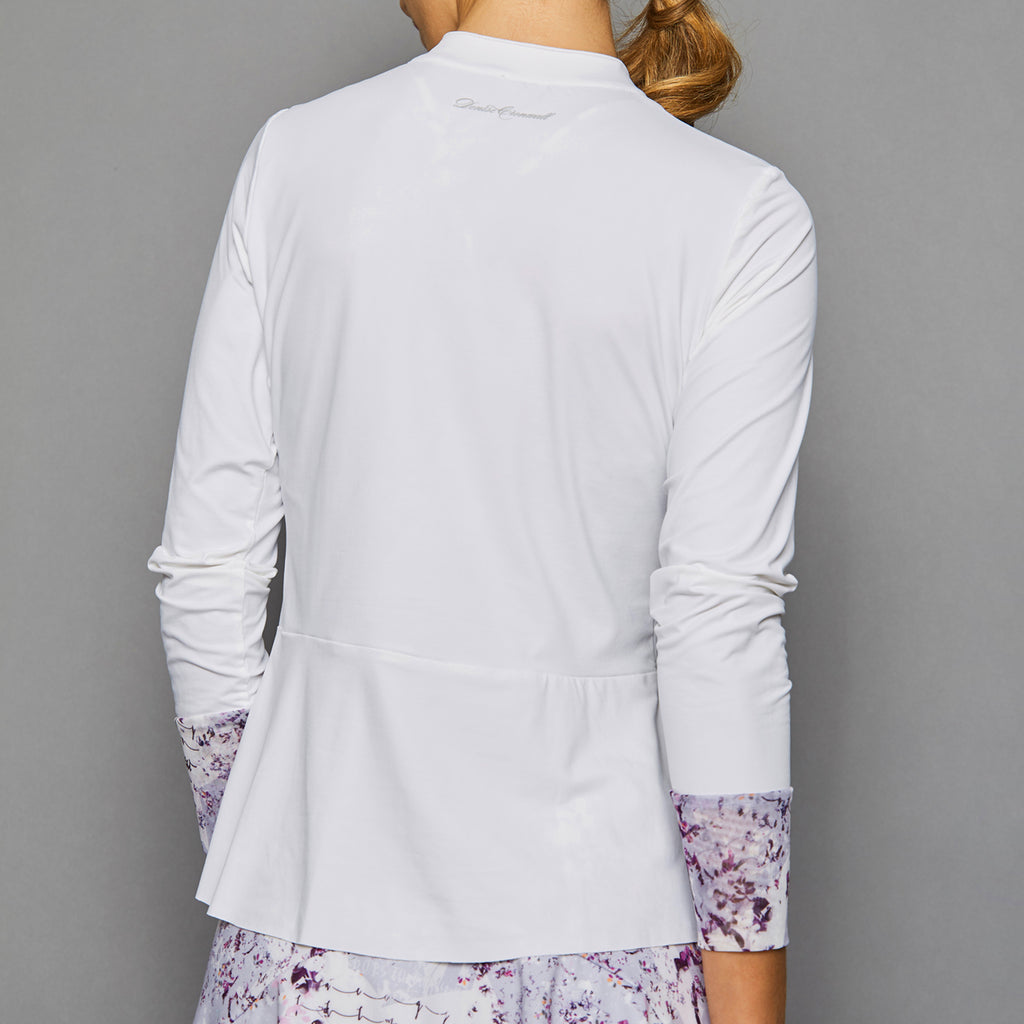 Rhapsody Long-Sleeve Collar Top (white)