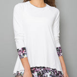 Vivid Dark Long-Sleeve Top (white)