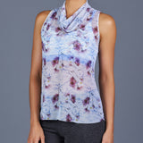 Spring Marble Sheer Layer Top