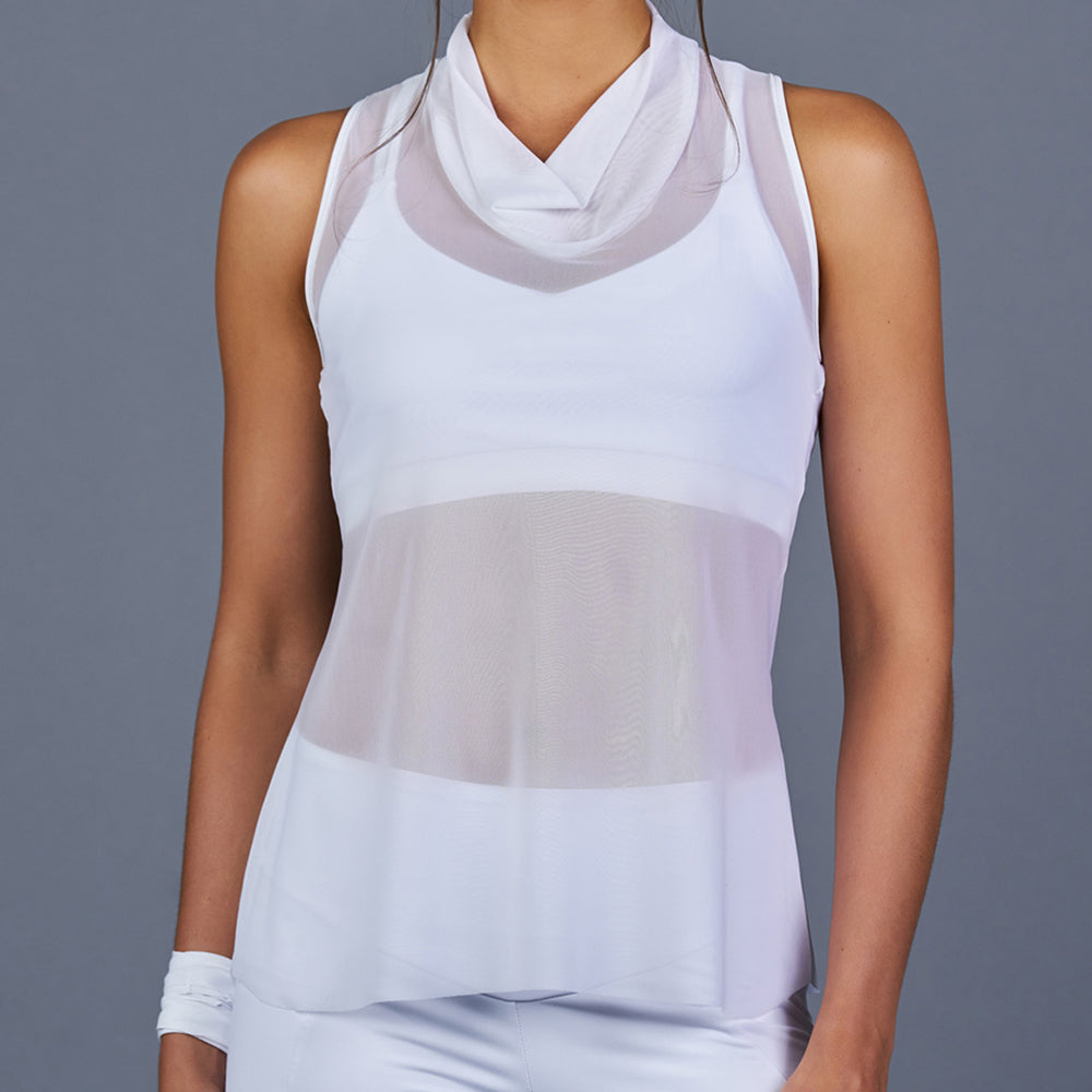 The Whites Sheer Layer Top