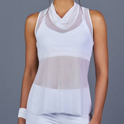 The Whites Cowl-neck Racerback Top