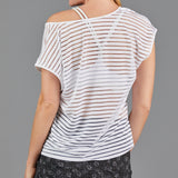 Jade Mesh Layer Tee (white)