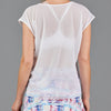 Juliette Mesh Layer Tee (white)