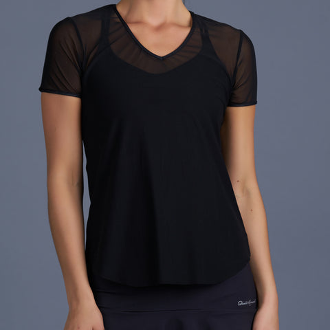 Blues Sleeveless Collar Top (black)