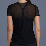 Blues Mesh Layering Tee (black)