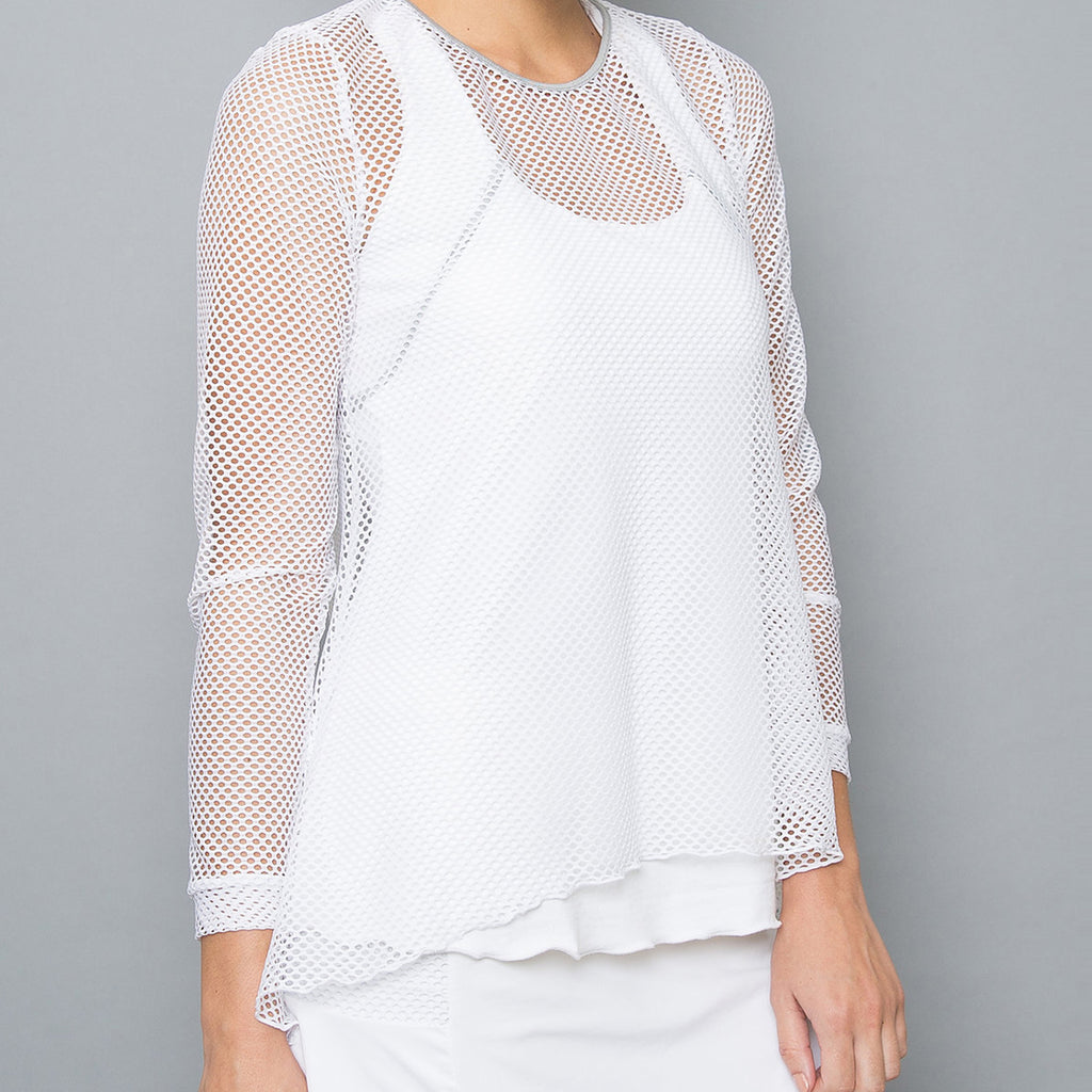 Whites Sheer Pullover Top