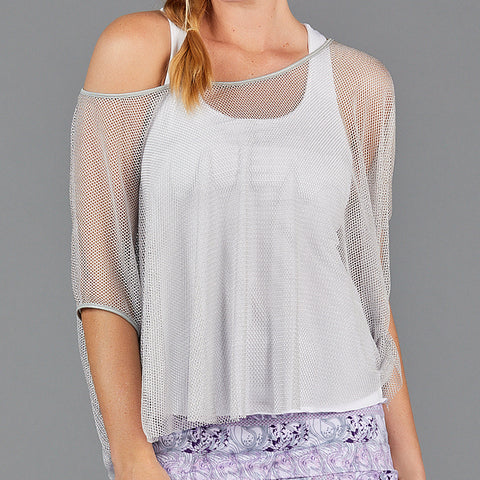 Djali Layered Strap Top (white/silver)