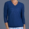 Blues V-neck Pullover (navy)