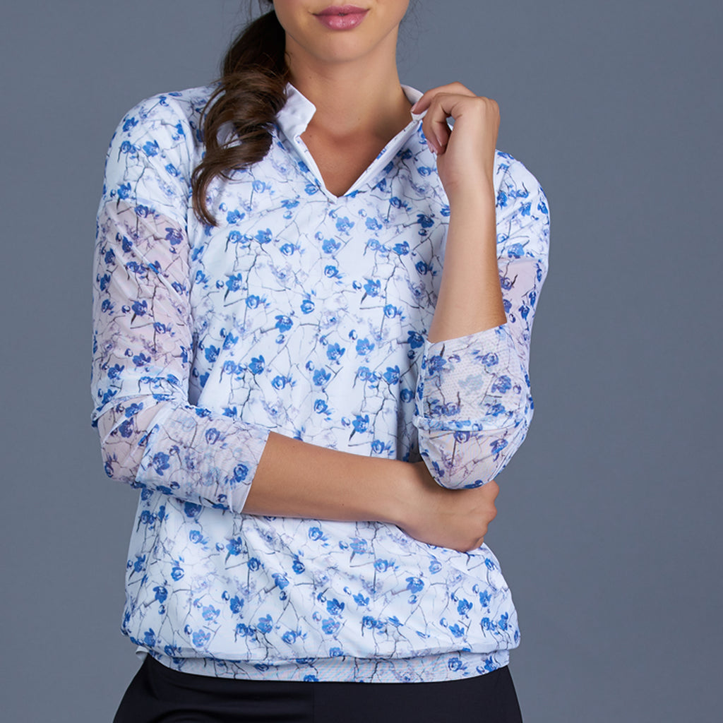 Blues V-neck Pullover (print)