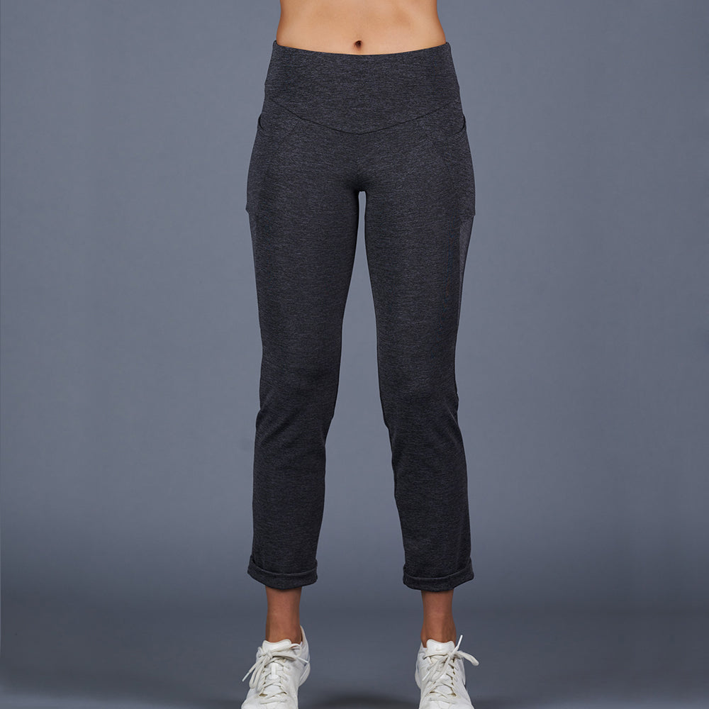 Spring Marble Compression Crop Pant