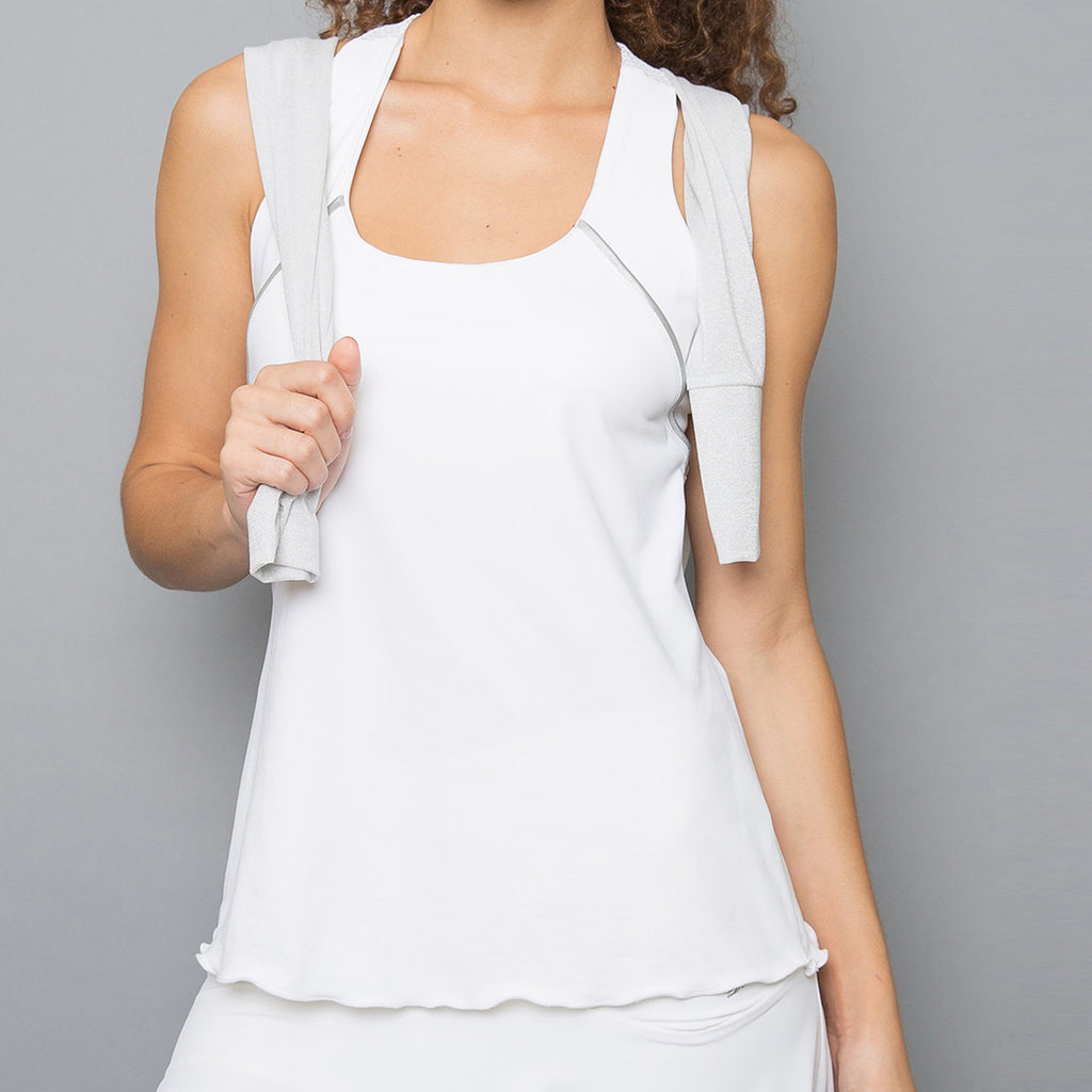 Whites Racerback Top