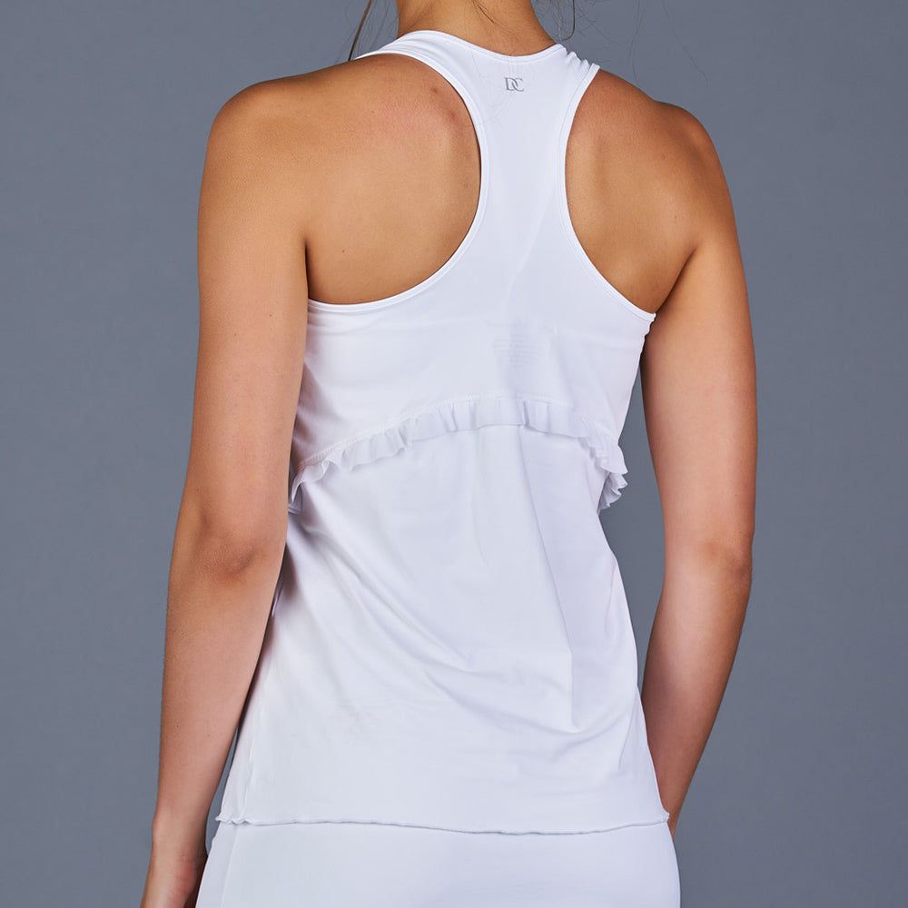The Whites Ruffle Racerback Top
