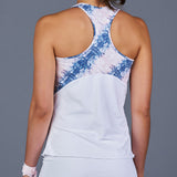 NY Square Racerback Top (white/print)