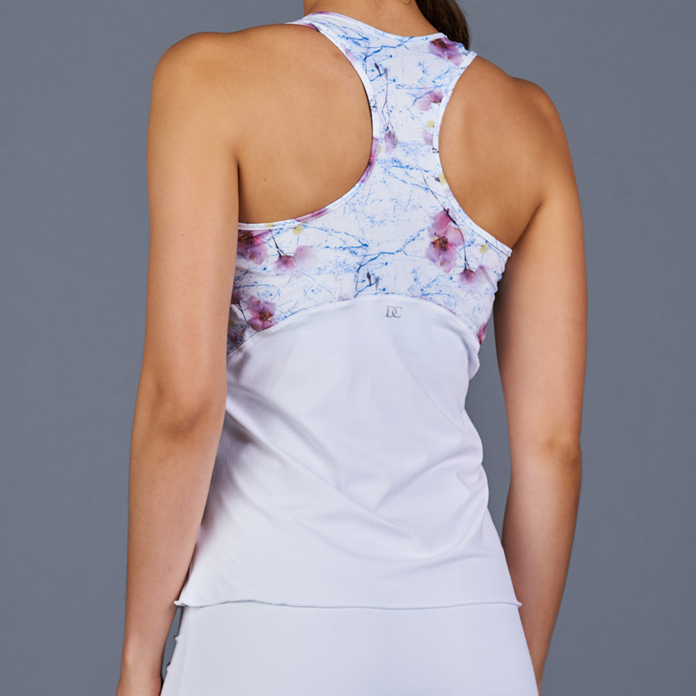 Spring Marble Racerback Top (white/print)