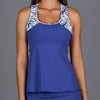 Royal Sport Racerback Top (blue/print)