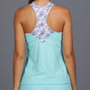 Shabby Chic Racerback Top (turquoise/print)