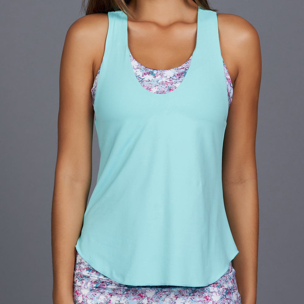 Shabby Chic Sport Top (turquoise/print)