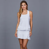 Luna White Peplum-back Top