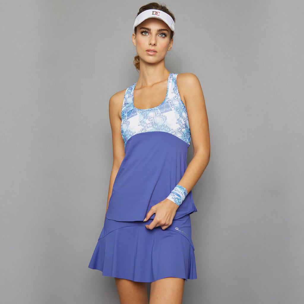 Scotia Print Racerback Top (blue)