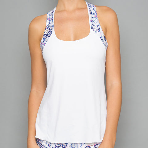 Mosaic Tennis Dress (white)
