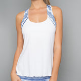 Nordica Print Racerback Top (white)