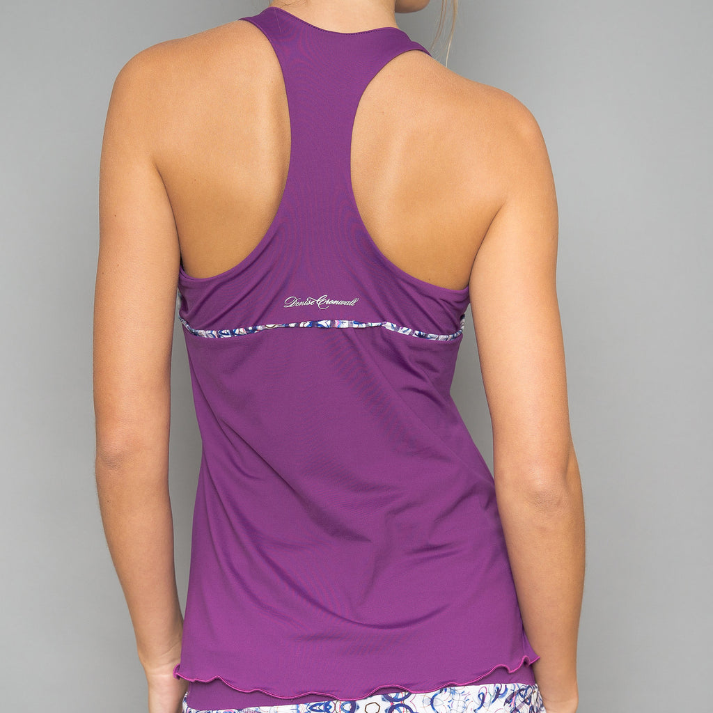 Mosaic Solid Racerback Top (violet)