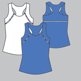 Nordica Solid Racerback Top (blue)