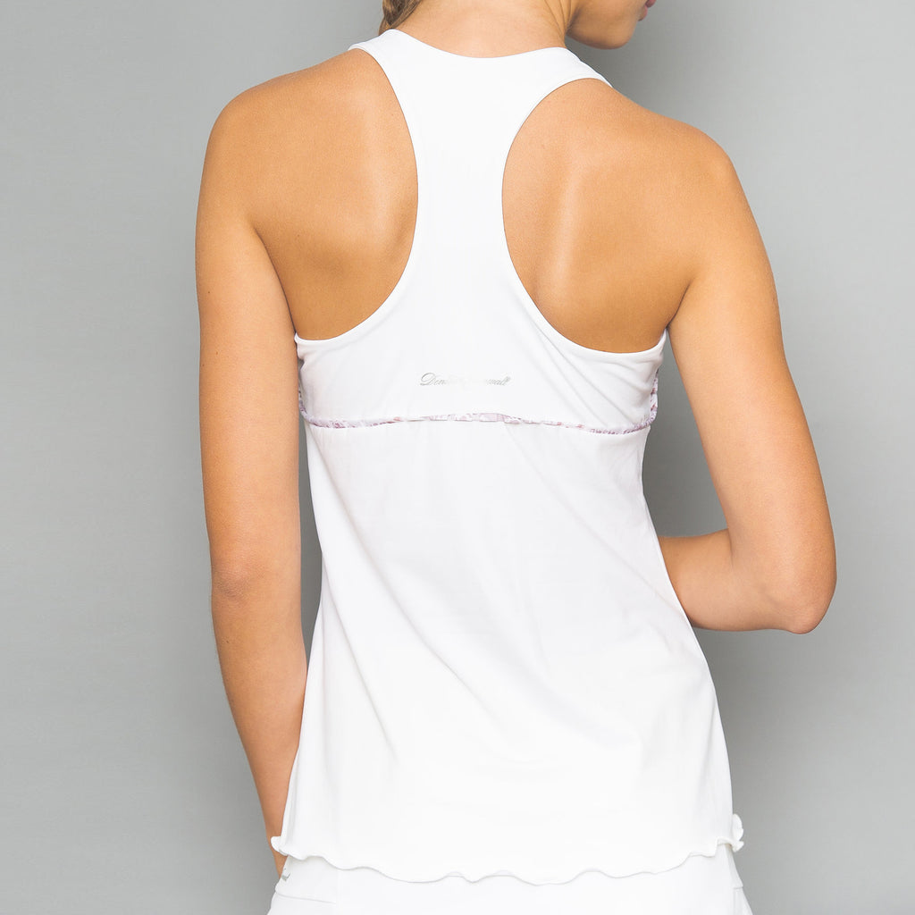 Sienna Solid Racerback Top (white)