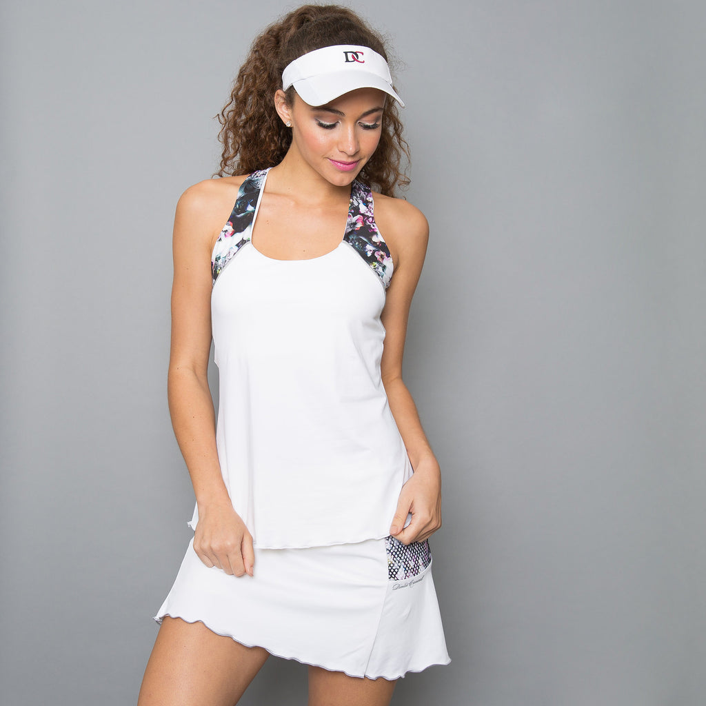 Vivid Dark Racerback Top (white)