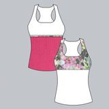 Wyn Racer-back Top (print)