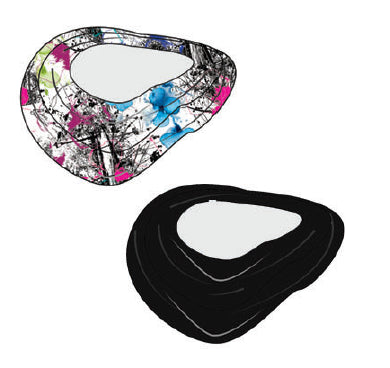 City Etch Infinity Scarf (black)