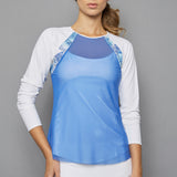 Scotia Sheer-body Top (royal blue)