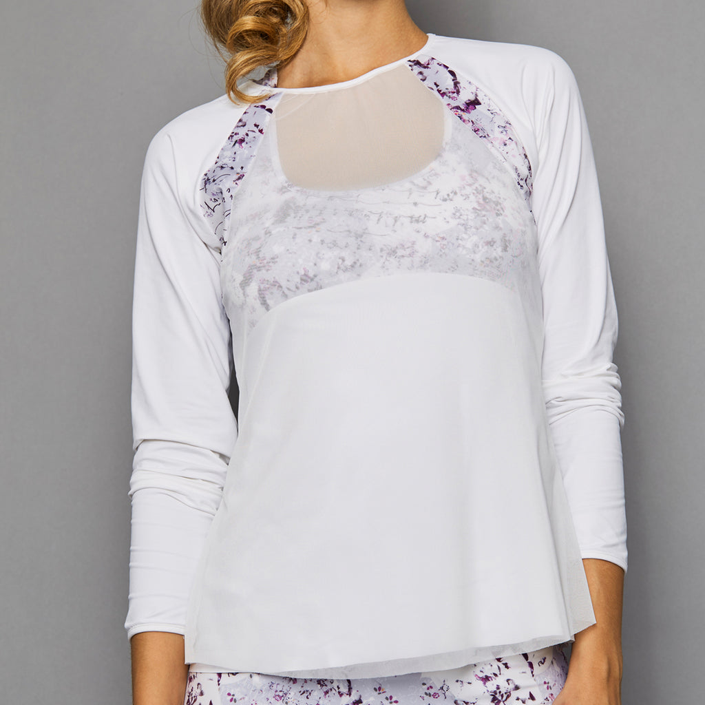 Rhapsody Sheer-body Top (white)