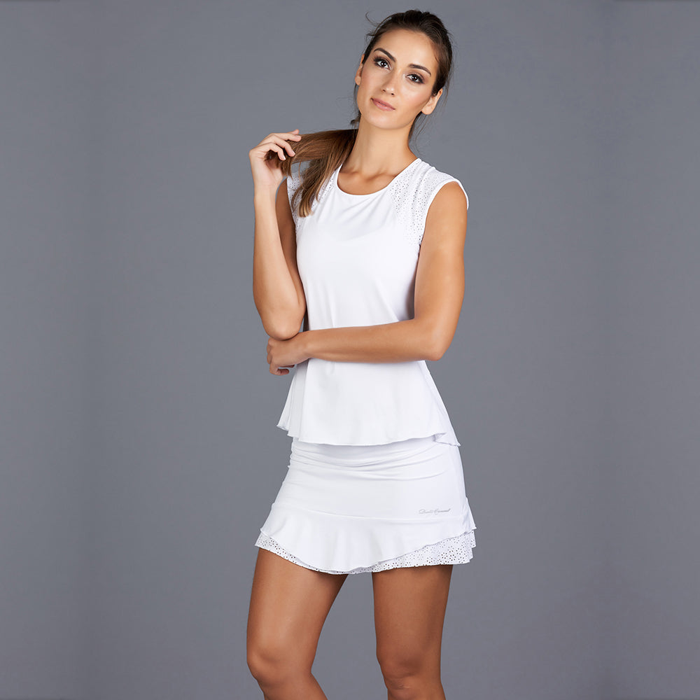 "All Season Eliza 13"" Skort (white)"