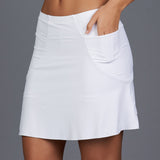 All Season Maritza Long Skort (white)