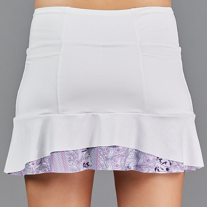 "Djali Two Tier 13"" Skort (white/print)"