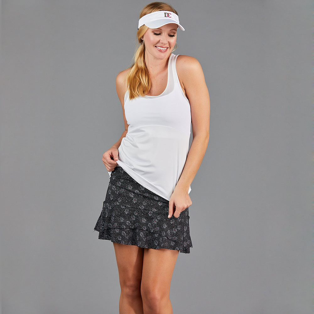 "Jade Two Tier 15"" Skort (print)"