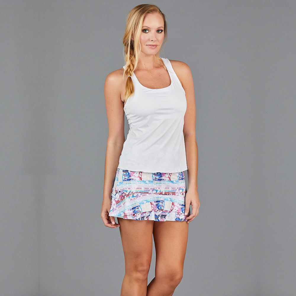 "Juliette Two Tier 13"" Skort (print)"