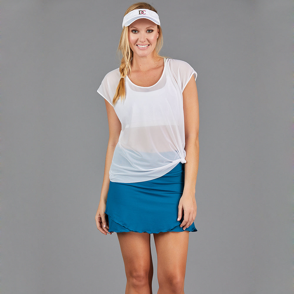 Juliette Straight Skort (teal)